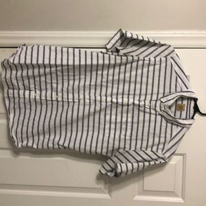 True Craft white button down with blue stripes